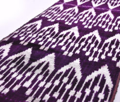 Silk Ikat Dark Purple Fabric, Antique style Ikat Dark purple fabric, Velvet fabric, Uzbek Velvet ikat fabric, Upholstery fabric