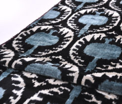Grey Dots Velvet Ikat Fabric by the yard