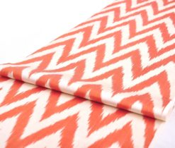Interior Styling Red Chevron Ikat Fabric