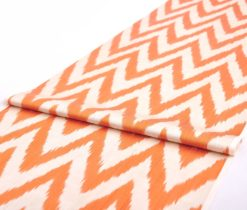 Orange Chevron Fabric Upholstery
