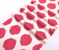 Red Polka Dot Fabric Ikat Interior