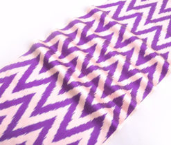 Unique Colored Chevron Ikat Fabric