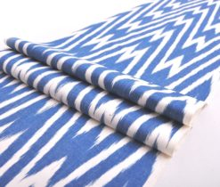 Chevron Silk Ikat Designer Fabric
