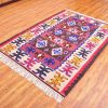 Anatolian Handmade Kilim Rug, Hand Made Turkish Wool Area Rug