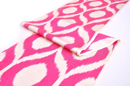 Pink Ikat Fabric Meters Sale, Pink Ikat Fabric By Yards