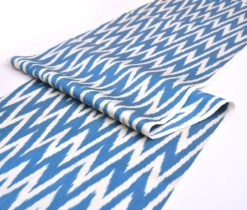 Sky Blue White Chevron Fabric Upholstery