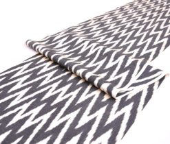 Black White Chevron Fabric Upholstery