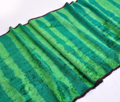 Overdyed Green Velvet Designer Fabric