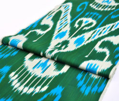 Dark Green Ikat Fabric Wholesale