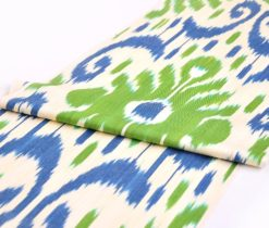 Ikat Fabric Upholstery Blue Green