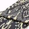 Black Ikat Cotton Fabric By Yards