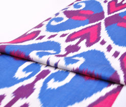 Blue Dark Pink Dark Violet Cotton Fabric