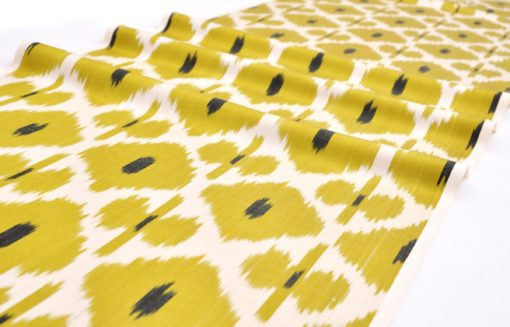 Lime Green Ikat Fabric Upholstery Sale