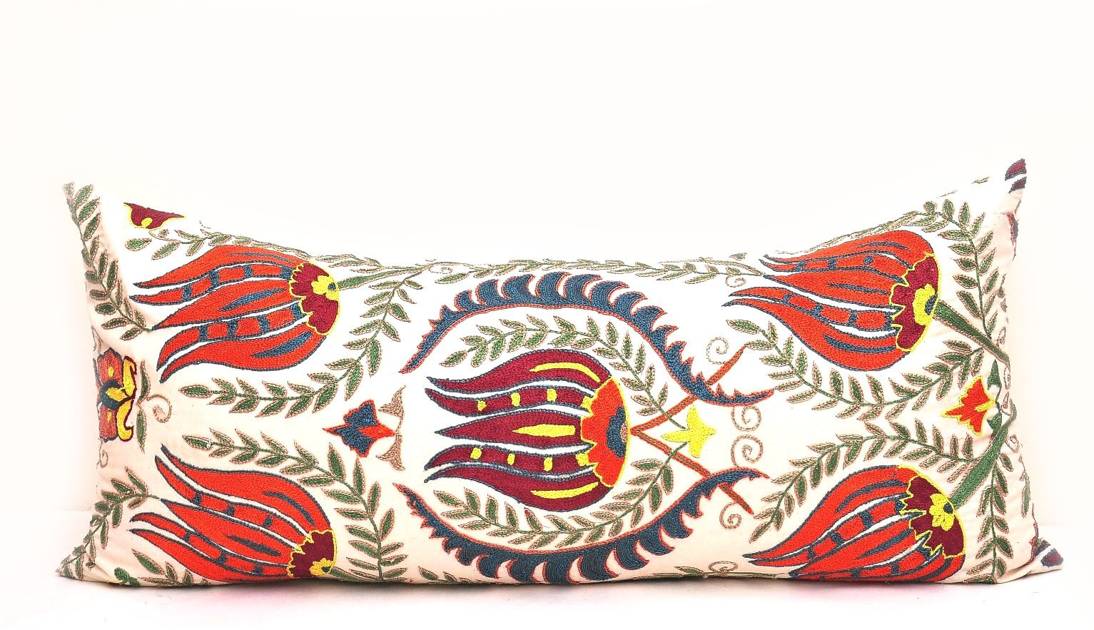 Throw Pillow Bolster : BOLSTER SUZANI THROW PILLOW CUSHION - Alesouk Grand Bazaar online shopping