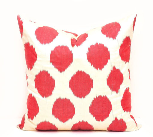 Red Polka Dot Accent Pillow Case