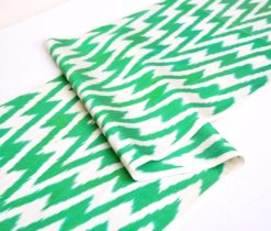 Fantastic Green Chevron Ikat Fabric