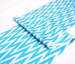 Best Quality Ikat Fabric Blue Chevron