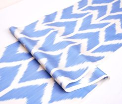Classic Blue Ikat Clothing Fabric