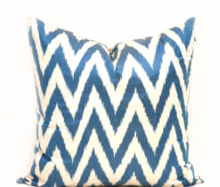 Blue Chevron Decorative Pillow Cover
