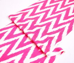 Finest Silk Ikat Hot Pink Chevron Fabric