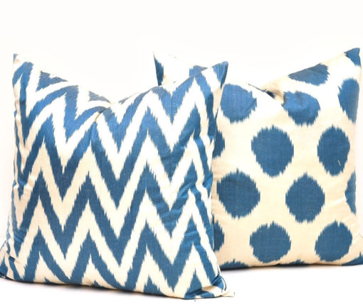 Coordinating Blue Pillow Cover Pair