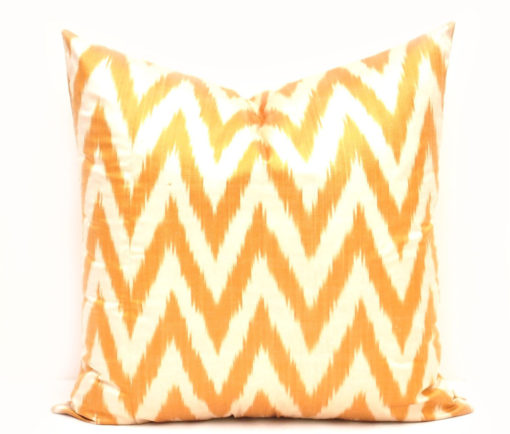 Yellow Chevron Decorative Pillow Cover