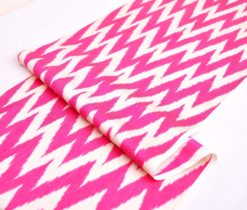 Hot Pink Chevron Silk Ikat Fabric