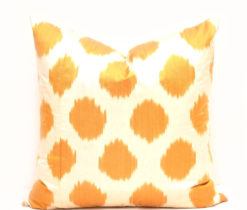 Rustic Decor Yellow Dots Pillow Cover