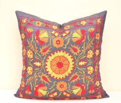 BOHEMIAN DECORATIVE SUZANI THROW PILLOW