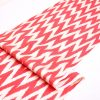 Red Chevron Ikat Throw Fabric