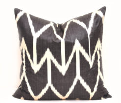 Farmhouse Decorative Black Ikat Pillow