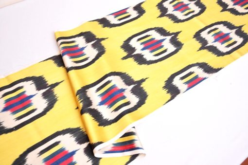 Fashionable Yellow Ikat Fabric Sale