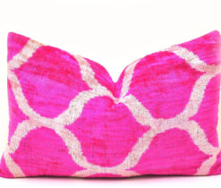 Pink Velvet Throw Decorative Couch Pillow