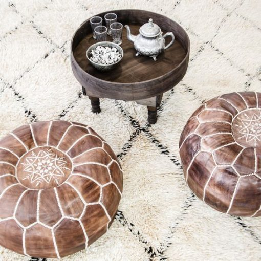 Authentic Moroccan Pouffe Ottoman