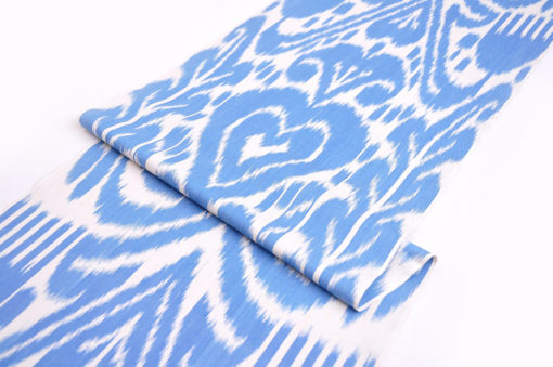 Sky Blue Ikat Cotton Upholstery Fabric