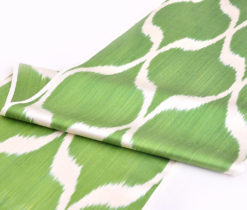 Green Ikat Diamonds Design Fabric 20 inch Wide