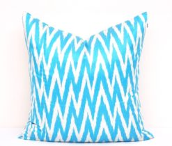 Light Blue Chevron Accent Pillowcase