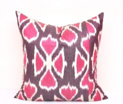 Tribal Print Ikat Throw Pillow