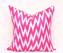 Hot Pink Chevron Accent Pillowcase