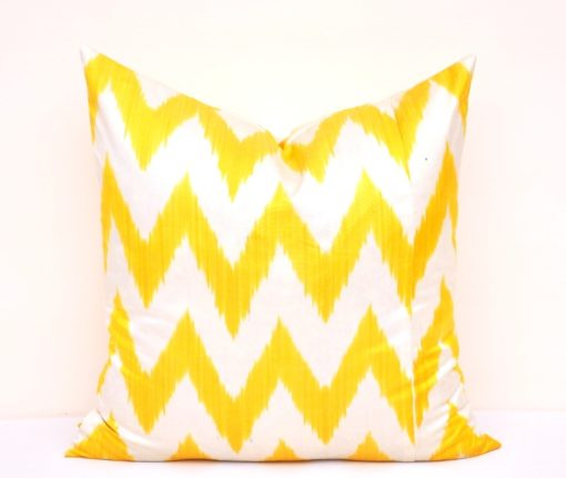 Exclusive Ikat Yellow Throw Pillow
