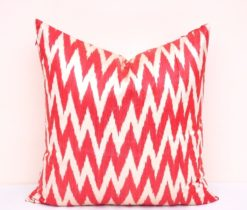 Red Chevron Accent Pillowcase