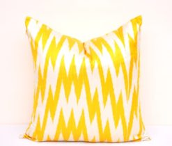 Yellow Chevron Accent Pillowcase