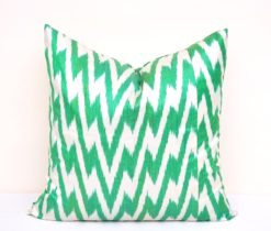 Green Chevron Accent Pillowcase