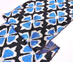 Blue Black Upholstery Velvet Fabric