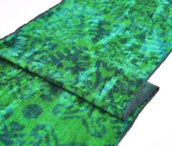 Green Handmade Velvet Fabric Clothing