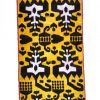 Yellow black upholstery ikat fabric