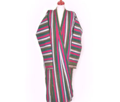 Ikat Striped Chapan Coat