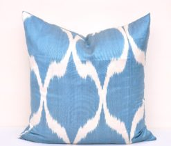 Diamond Blue Throw Pillowcase