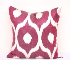 Brown Silk Cotton Ikat Throw Pillow