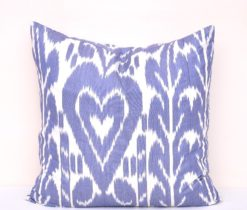 Organic Cotton Cheap Blue Ikat Pillow